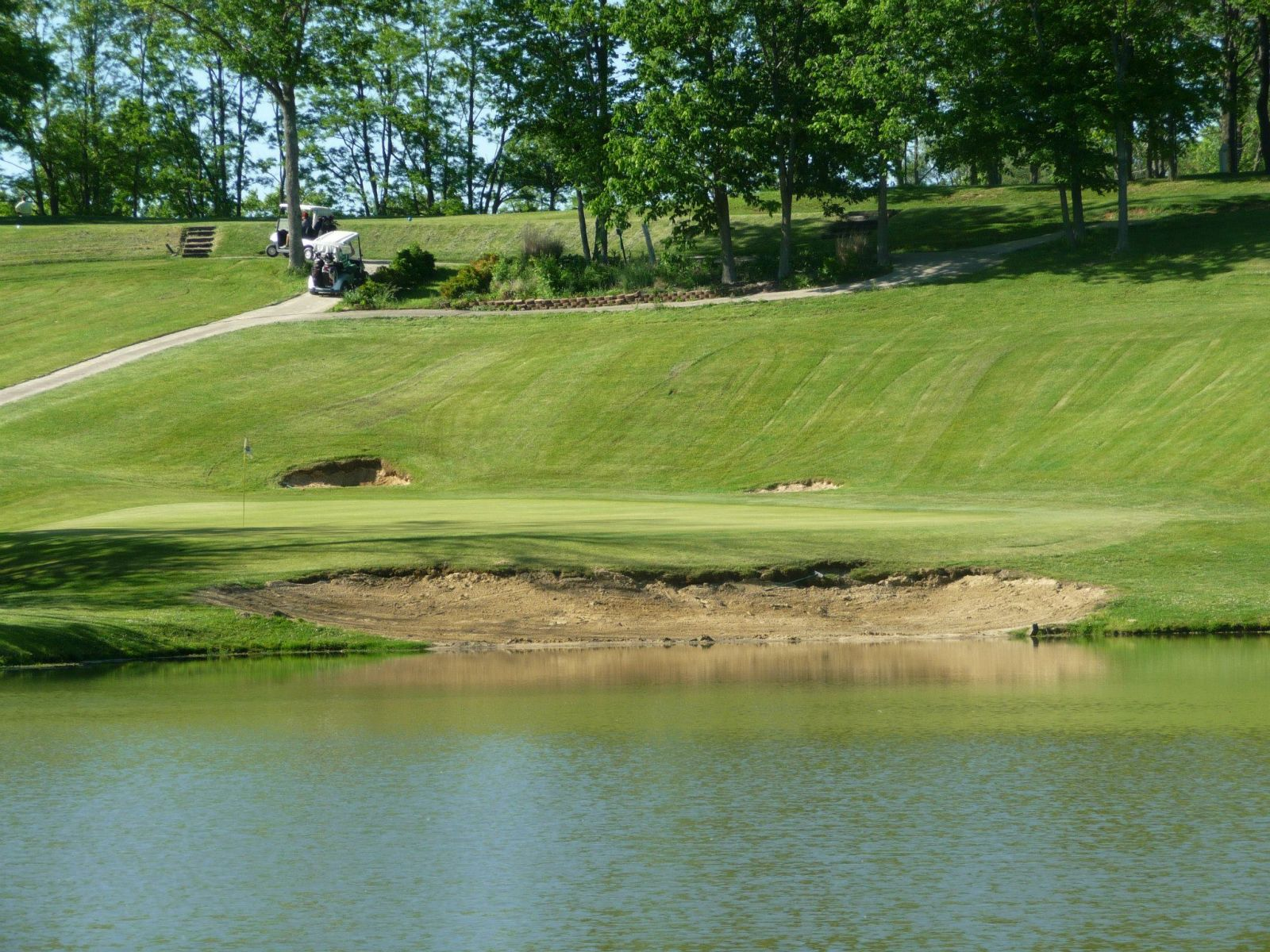 View of a pond on the course at Beech Creek