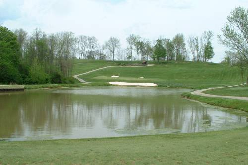 View of a pond on the course at Beech Creek Golf Course