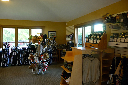 Interior shot of the pro shop at Beech Creek Golf Course
